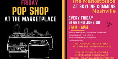 Friday Pop Shop at The Marketplace