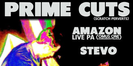 Hellfire Corner Presents: Prime Cuts/Omus One/Amazon/Stevo tickets