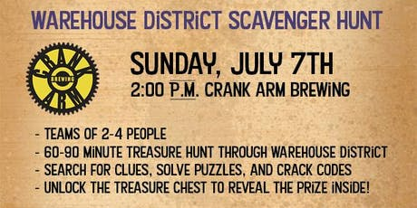 Raleigh Warehouse District Treasure Hunt - Crank Arm Brewing Co. tickets