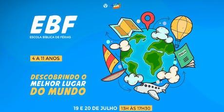 EBF - Escola Bíblica de Férias ingressos