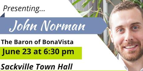 John Norman: The Baron of Bonavista tickets