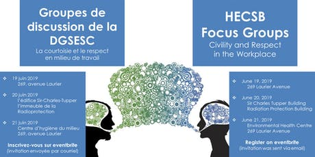 Focus Groups for Employees - Groupes de discussion pour les employés billets