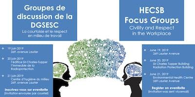 EHC Focus Groups for Employees - Groupes de discussion pour les employés