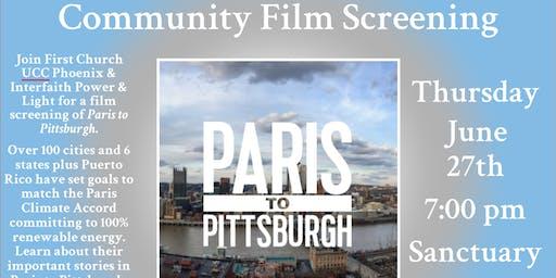 Paris to Pittsburgh Film Screening