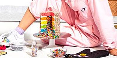 FLOUR SHOP RAINBOW EXPLOSION CAKE EVENT