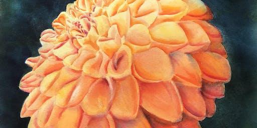 Delightful Dahlias Watercolor Workshop