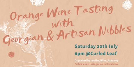 Orange Wine Tasting with Georgian & Artisan Nibbles tickets