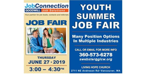 Job Fair - Youth Seasonal Employment - Vancouver - 6/27/19
