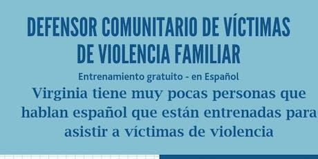 Entrenamiento para defensor comunitarios de víctimas de violencia doméstica tickets