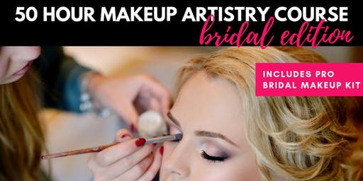 BRIDAL EDITION: 50 Hour Makeup Artistry Course - July 2019