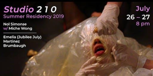 Studio 210 Summer Residency Performance 2019