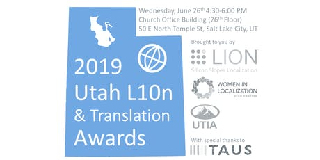 2019 Utah L10n Awards & Networking tickets