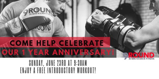 FREE EVENT Come Help Celebrate Our 1 Year Anniversary- 9Round Kickboxing