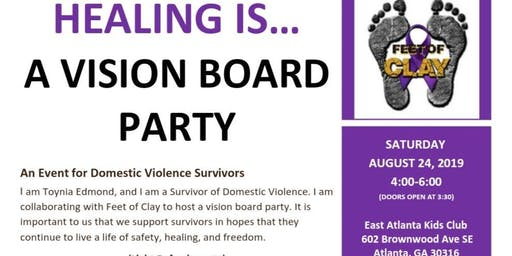 FREE A Vision Board Party for Domestic Violence Survivors (Free Childcare)