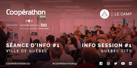 Coopérathon 2019 - Séance d'info #1 / Info session #1 (Québec) billets