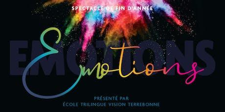 Spectacle de fin d'année École Vision Terrebonne - 19 juin 2019 billets