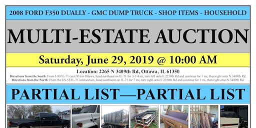 MULTI-ESTATE AUCTION - Ottawa, IL