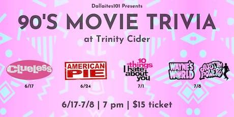 90's Movie Trivia: American Pie tickets
