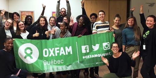 Soirée d'information sur les projets Québec sans frontières d'Oxfam-Québec