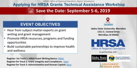 Idaho Grant Technical Assistance Workshop: Track 3 - Administration and Human Capital tickets