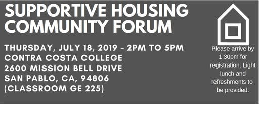 Supportive Housing Community Forum