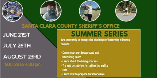 Santa Clara County Sheriff's Summer Series (Agility & Backgrounds Workshop)