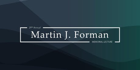 29th Annual Forman Memorial Lecture with Harold Alderman tickets