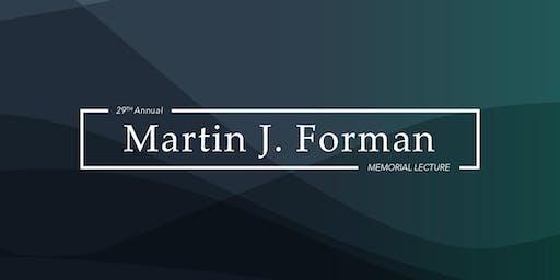 29th Annual Forman Memorial Lecture with Harold Alderman