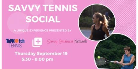 Savvy Tennis Social tickets