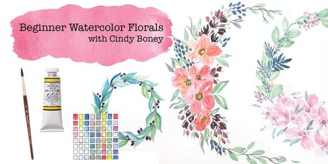 Beginner Watercolor Florals - Cindy Boney, Instructor tickets
