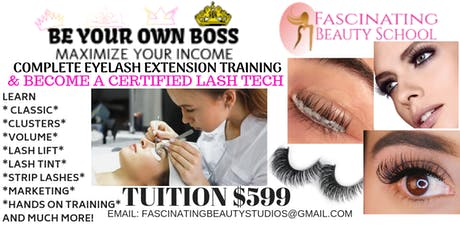 Be Your Own BOSS Eyelash extension Course tickets