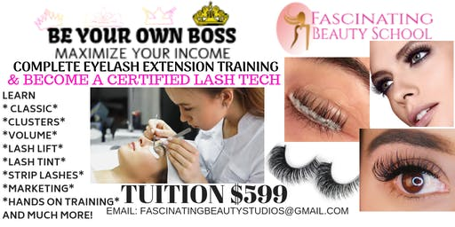 Be Your Own BOSS Eyelash extension Course