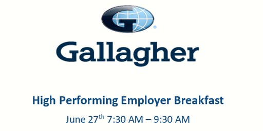 Gallagher's High Performing Employer Breakfast