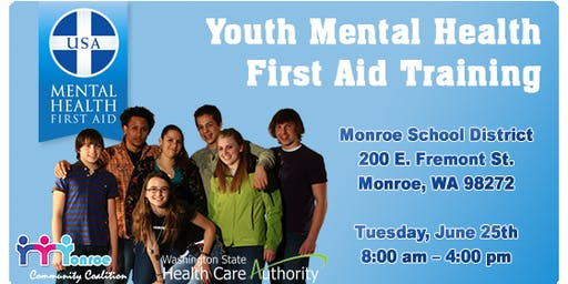 Youth Mental Health First Aid Training in Monroe, WA