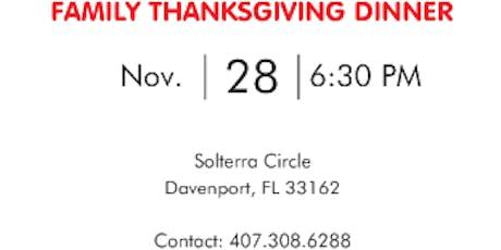 FAMILY THANKSGIVING DINNER tickets