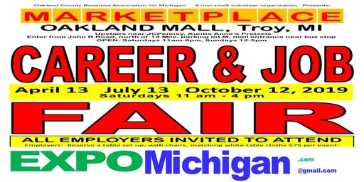 Career & Job Fair - Employers Wanted: MARKETPLACE, Oakland Mall, Troy  July 13, 2019
