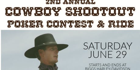 2nd Annual Cowboy Shootout Poker Contest & Ride tickets
