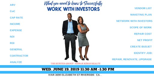 IEAOR Lunch  & Learn -Working With Investors
