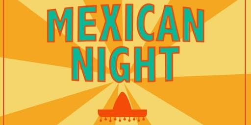 Mexican fiesta night, fire & the beach.