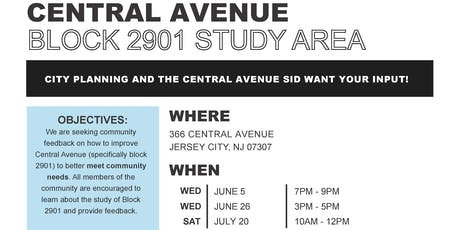 Community Meeting - Central Avenue Block 2901 Study Area tickets