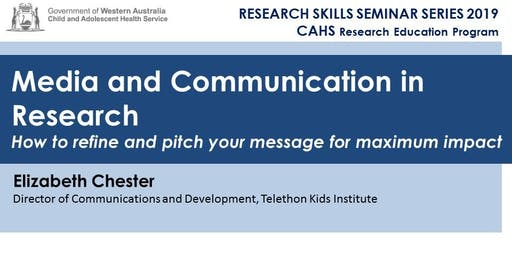 Research Skills Seminar: Media and Communications in Research - 28 June