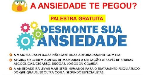 Palestra gratuita: DESMONTE SUA ANSIEDADE (CORDEIRO)