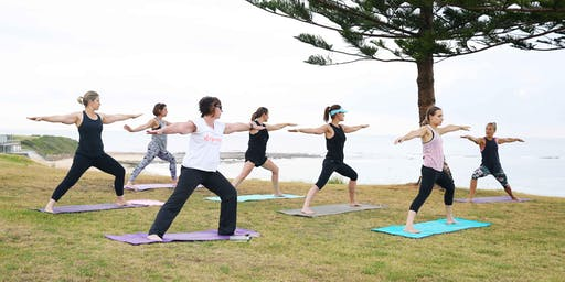 Sunday Beach front Yoga Fundraiser for Illawarra Women's Health Centre