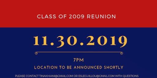 Stuyvesant High School Class of 2009 10-Year Reunion