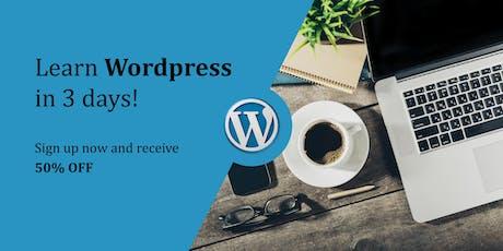 Learn Wordpress in 3 days!! tickets