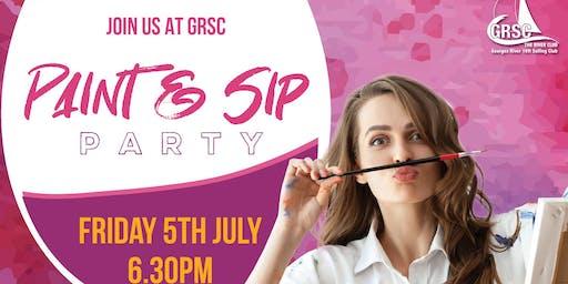 Paint & Sip Party at GRSC
