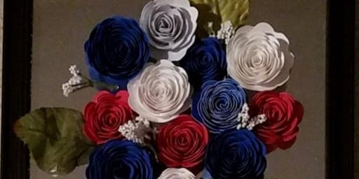 Paper Flowers Patriotic/Love Blooms