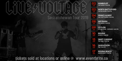 Live Voltage ACDC Tribute Regina Cloud 9
