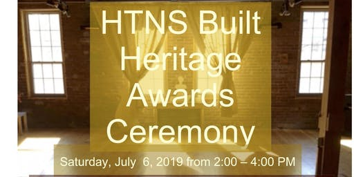 Heritage Trust of NS Built Heritage Awards
