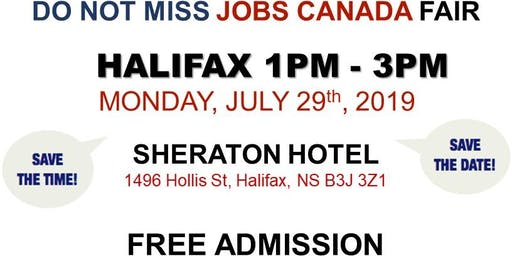 Free: Halifax Job Fair – July 29th, 2019